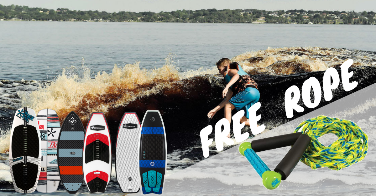 Buy a Wakesurf Board Get a Staight Line Rope Free