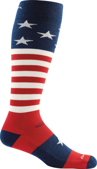 Darn Tough Stars and Stripes Snowboard Socks - 88 Gear