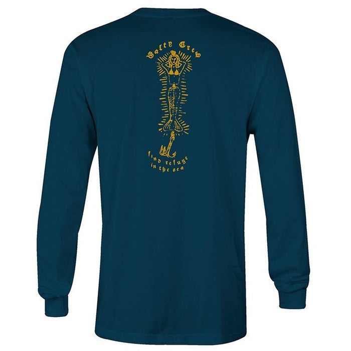Salty Crew Harbor Blue Long Sleeve Shirt