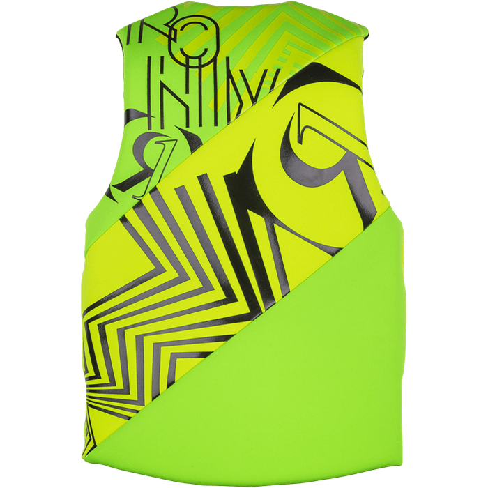 Ronix Vision Front Zip CGA Life Vest - Lime (50-90 LBS) - 88 Gear