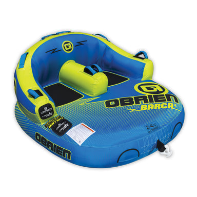 OBrien Barca 2 Kickback Inflatable 2 Person Rider Towable Boat Water Tube Raft
