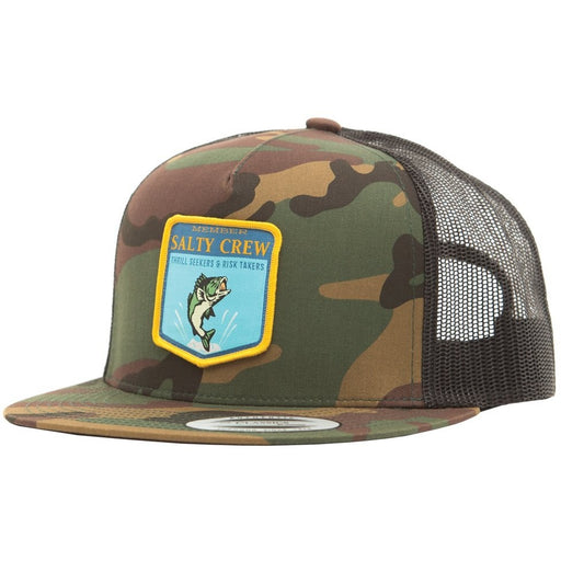 Salty Crew Bass Badge Camo Hat