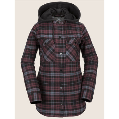 Volcom Hooded Women's Flannel Jacket