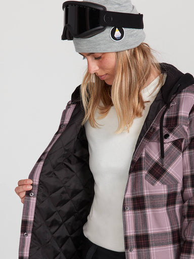 Volcom Women's Hooded Flannel Jacket - 88 Gear