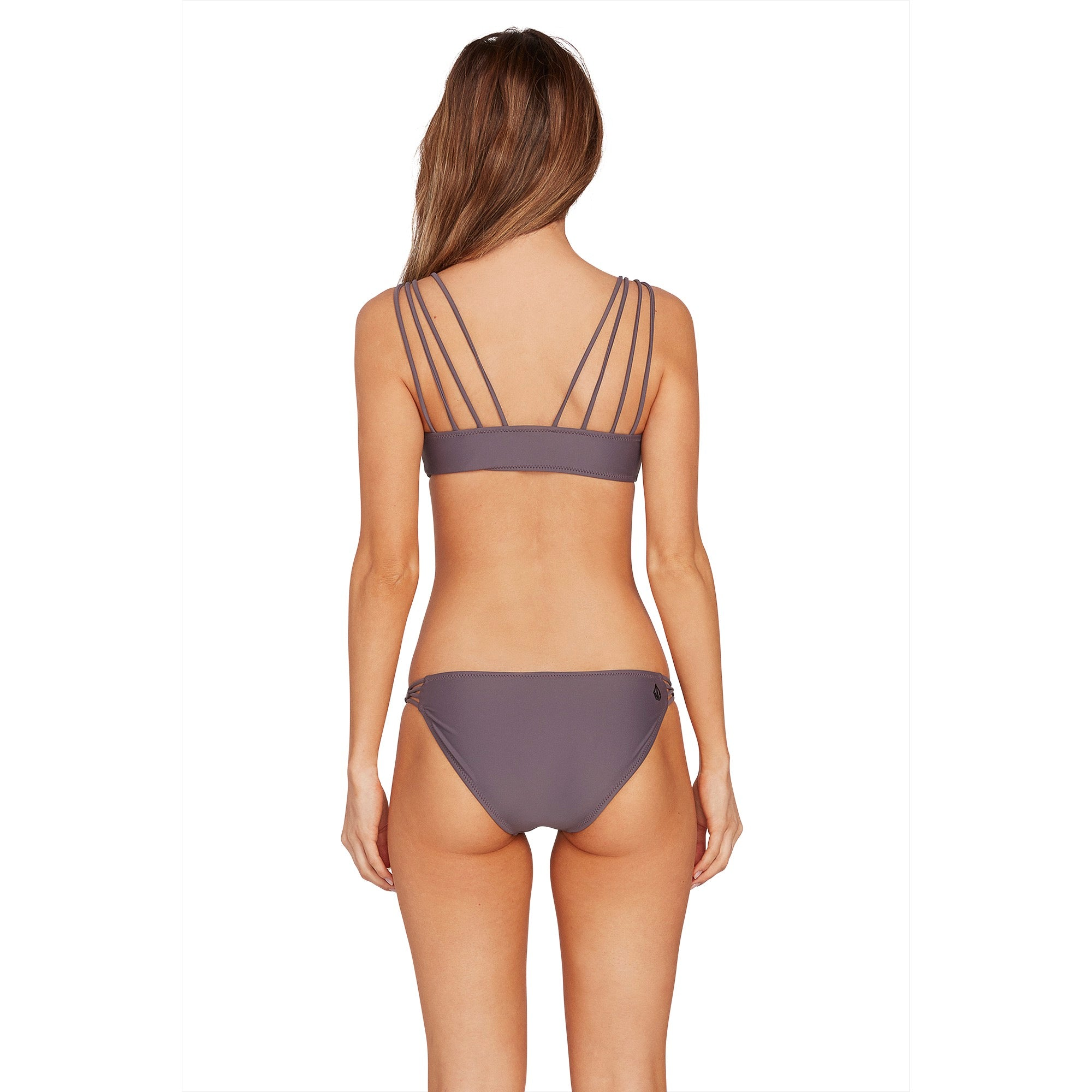 Volcom Simply Solid V Neck Bikini Top - 88 Gear