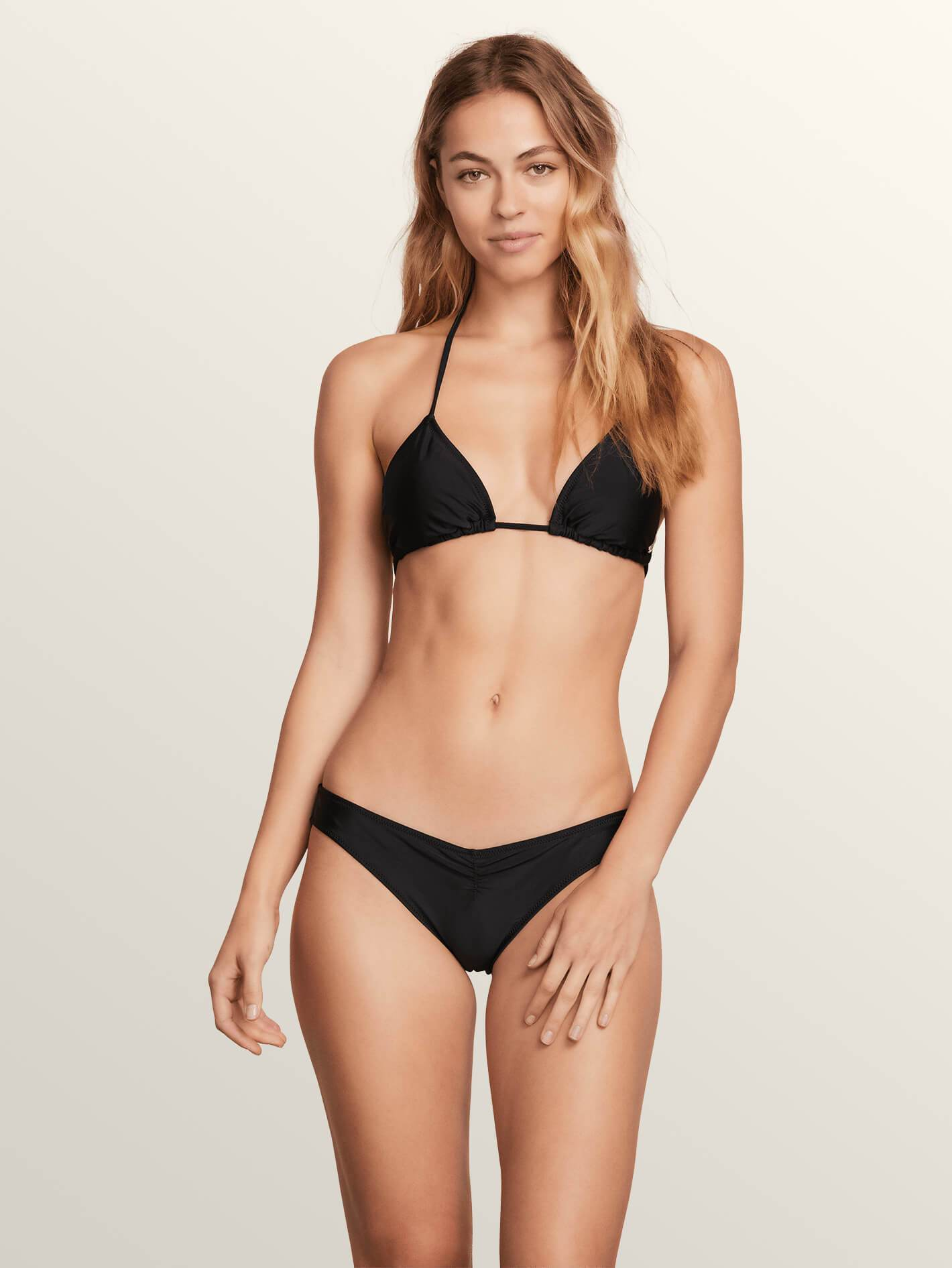 Volcom Simply Solid Triangle Bikini Top - 88 Gear