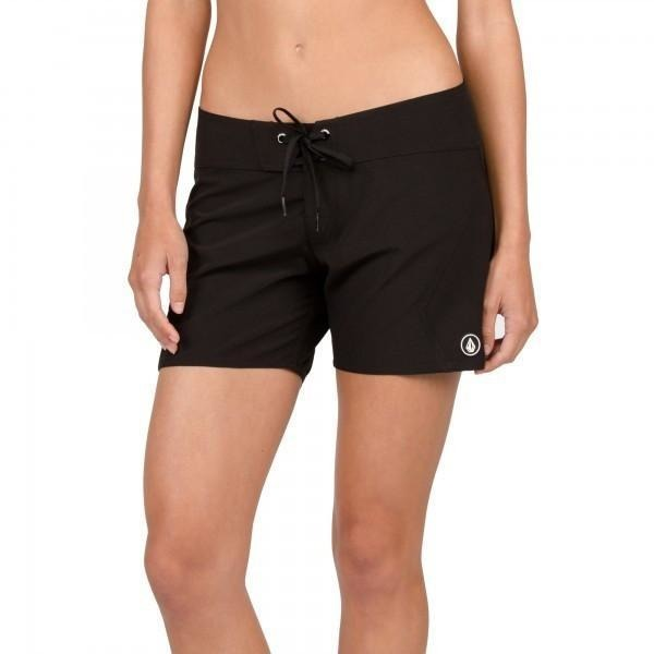 Boardshorts - Volcom Simply Solid Women's Black Boardshorts