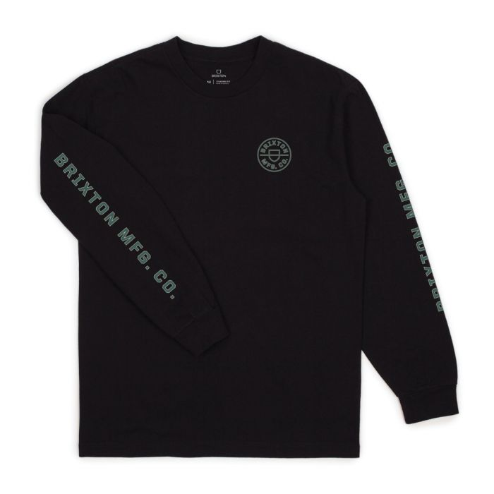 Brixton Crest Long Sleeve Tee - 88 Gear