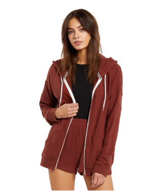 Volcom Lived In Zip Hooded Fleece