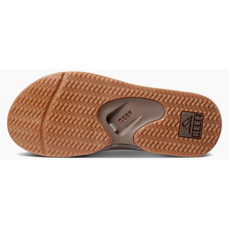 Reef Leather Fanning Sandals - Brown - 88 Gear