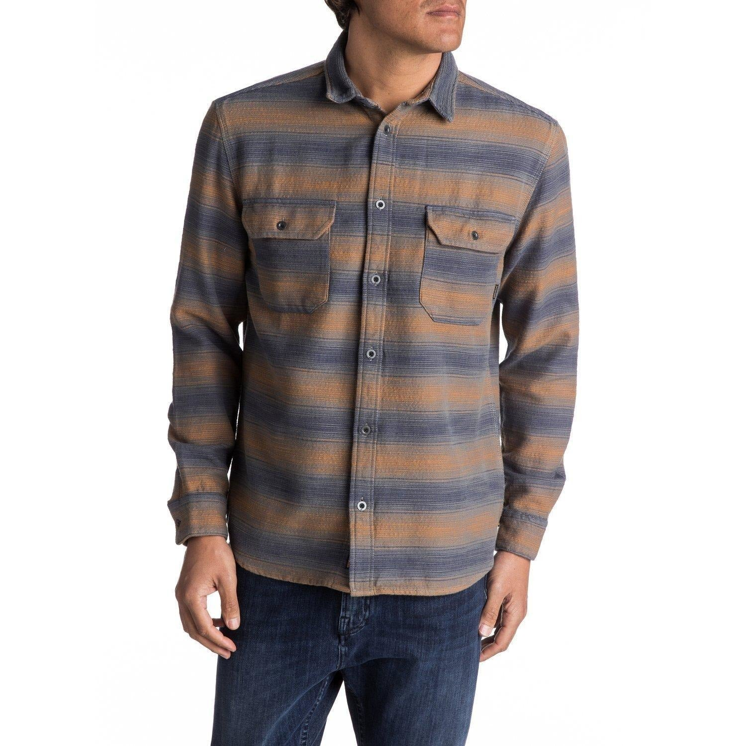 Quiksilver Dusky Town Flannel Long Sleeve Over Shirt - 88 Gear