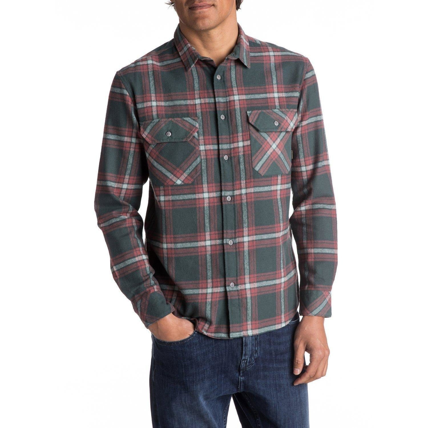 Quiksilver Fitz Forktail Flannel Long Sleeve Shirt - 88 Gear