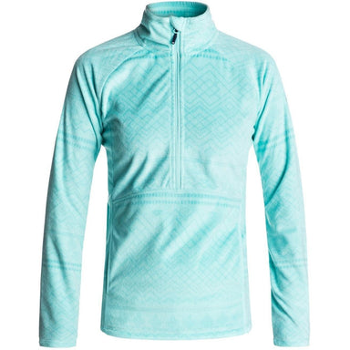 Roxy Cascade Half Zip Polar Fleece - ARUBA BLUE - 88 Gear