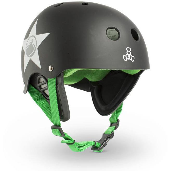 Liquid Force Triple Eight Wake Helmet - Black - 88 Gear