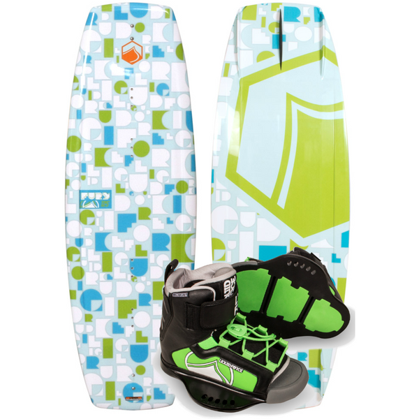 Liquid Force Fury Kid's Wakeboard Package with Rant Boot -2017
