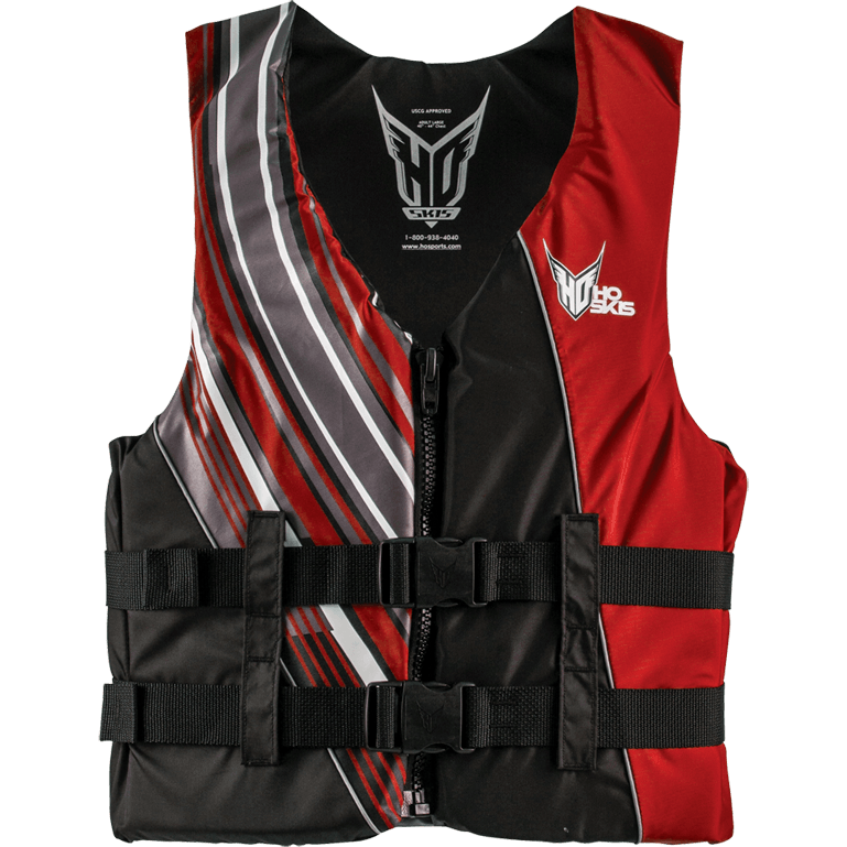HO Infinite Red Life Jacket - Coast Guard Approved - 88 Gear