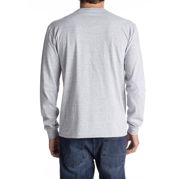 Long Sleeve Tee - Quiksliver Mountain And Wave Long Sleeve Tee - Grey