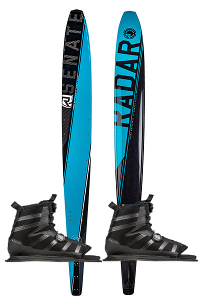 Radar Alloy Senate Water Ski with Vector Boa Boots - 88 Gear