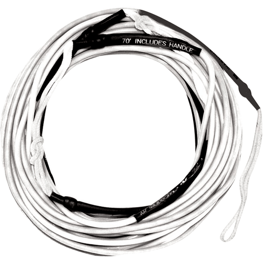 Rope And Handle - Hyperlite 2016 70' Silicone Line- White Wakeboard Rope