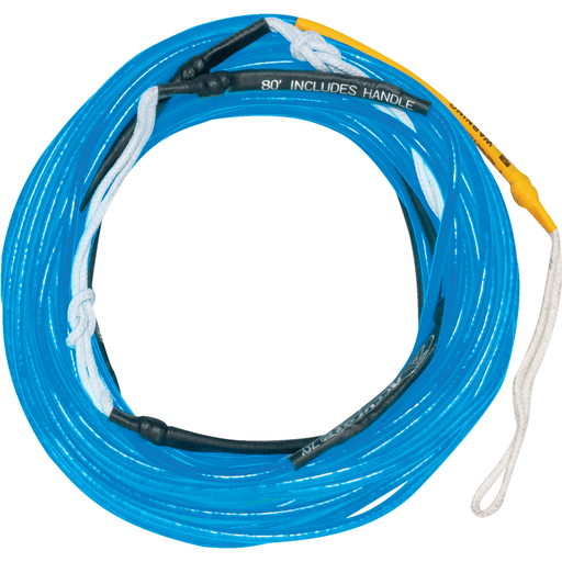 Rope And Handle - Hyperlite Wakeboard Rope 80' Silicone Line- Blue