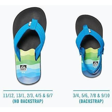 Reef Kids Ahi Blue Sandals - 88 Gear