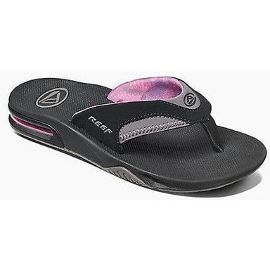 Sandal - Reef Women's Fanning Black And Grey Sandal