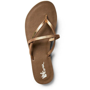 Volcom Women's All Night Long Sandals Bronze - 88 Gear