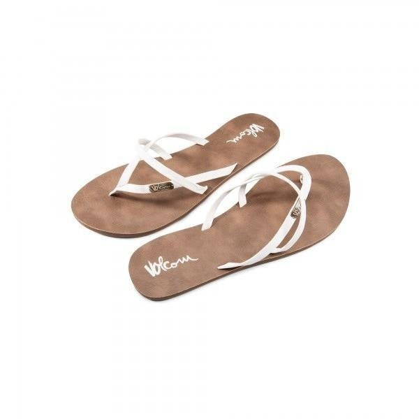 Volcom Women's All Night Long Sandals - White - 88 Gear