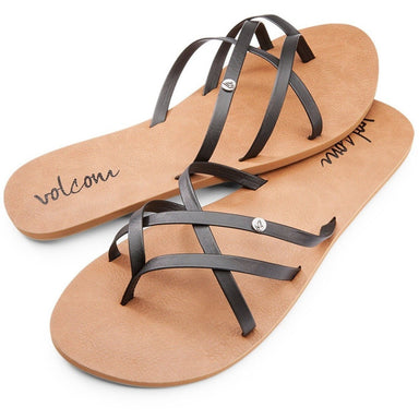 Volcom Women's New School Sandals - Black - 88 Gear