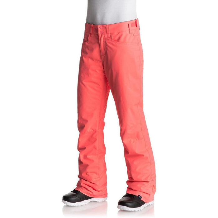 Snowboard Pants - Roxy Backyard Women's Snow Pants - Neon Grapefruit