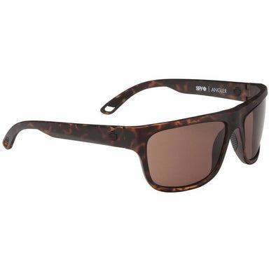 Sunglasses - Spy Angler Sunglasses Matte Camo Tort Frame With Happy Bronze Lens