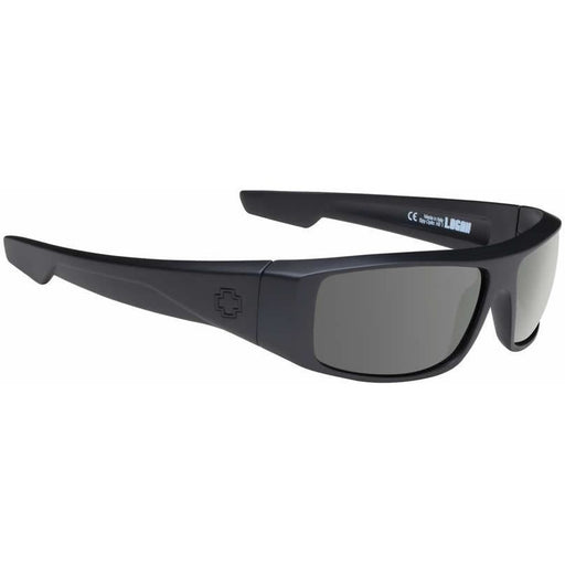 Sunglasses - Spy Logan Sunglasses Soft Matte Black With Happy Lens