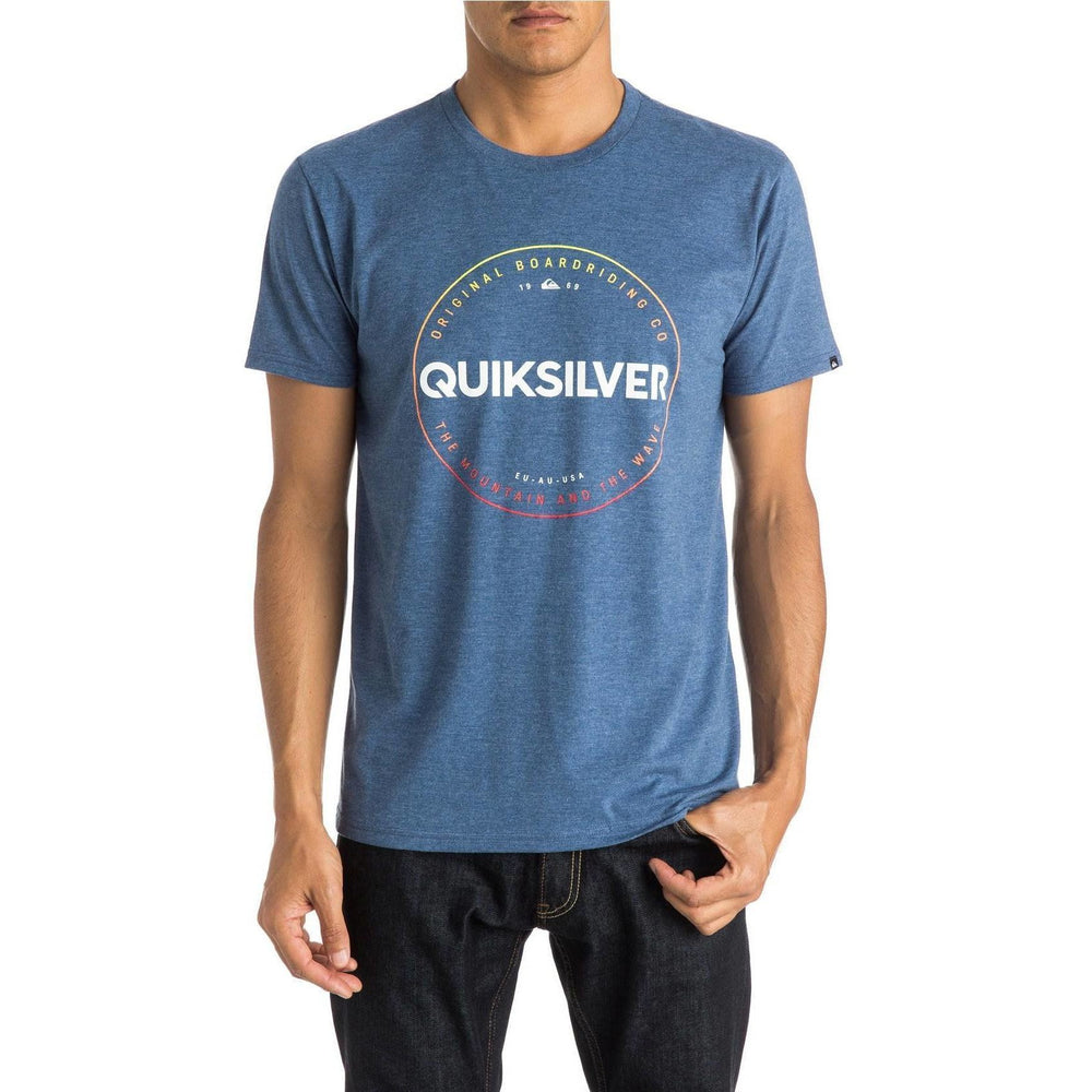 T-Shirt - Quiksilver Time Piece T-Shirt - Blue Heather
