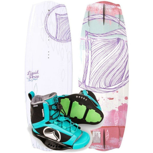 Wakeboard Package - Liquid Force Angel Wakeboard Package With Plush Boots 2017