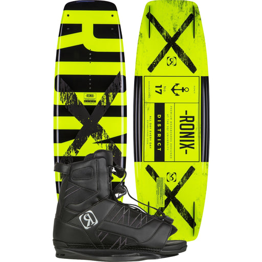 Wakeboard Package - Ronix District Wakeboard Package With Divide Bindings - 2017