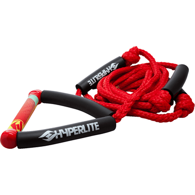 Hyperlite Wakesurf Rope with Handle - Red - 88 Gear