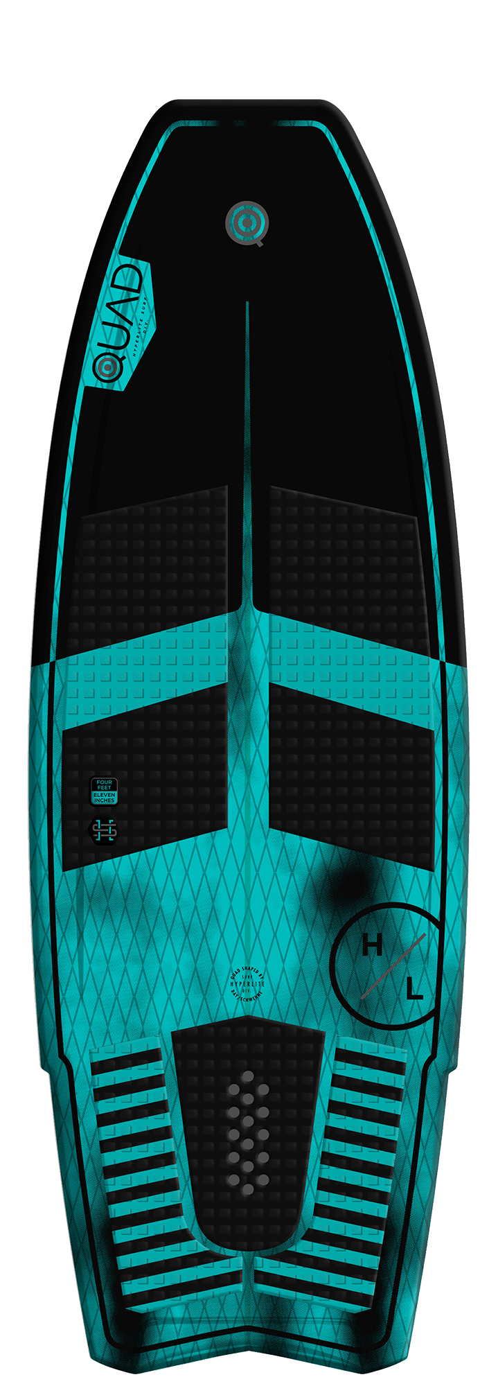 Hyperlite Quad Wakesurf Board 2019 - 88 Gear