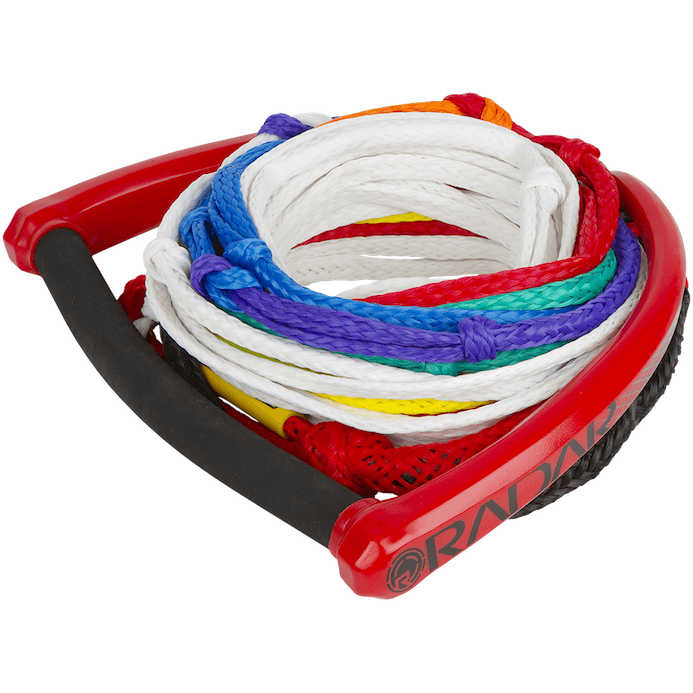 Water Ski Rope And Handle - Radar Control Series 8 Section Rope And Elliptical Handle