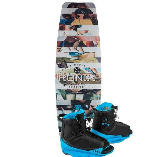 Ronix Press Play Wake Park Package with District Bindings