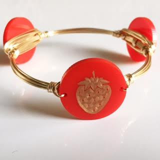 *Strawberry Bangle (engraved)