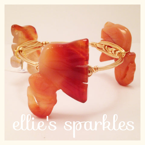 Agate Elephant Bangle