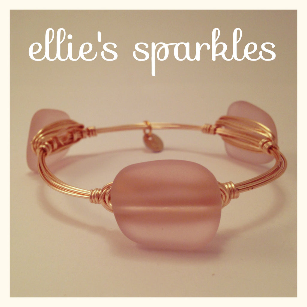 Blush Sea Glass Bangle