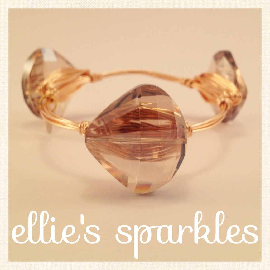 Champagne Teardrop Bangle