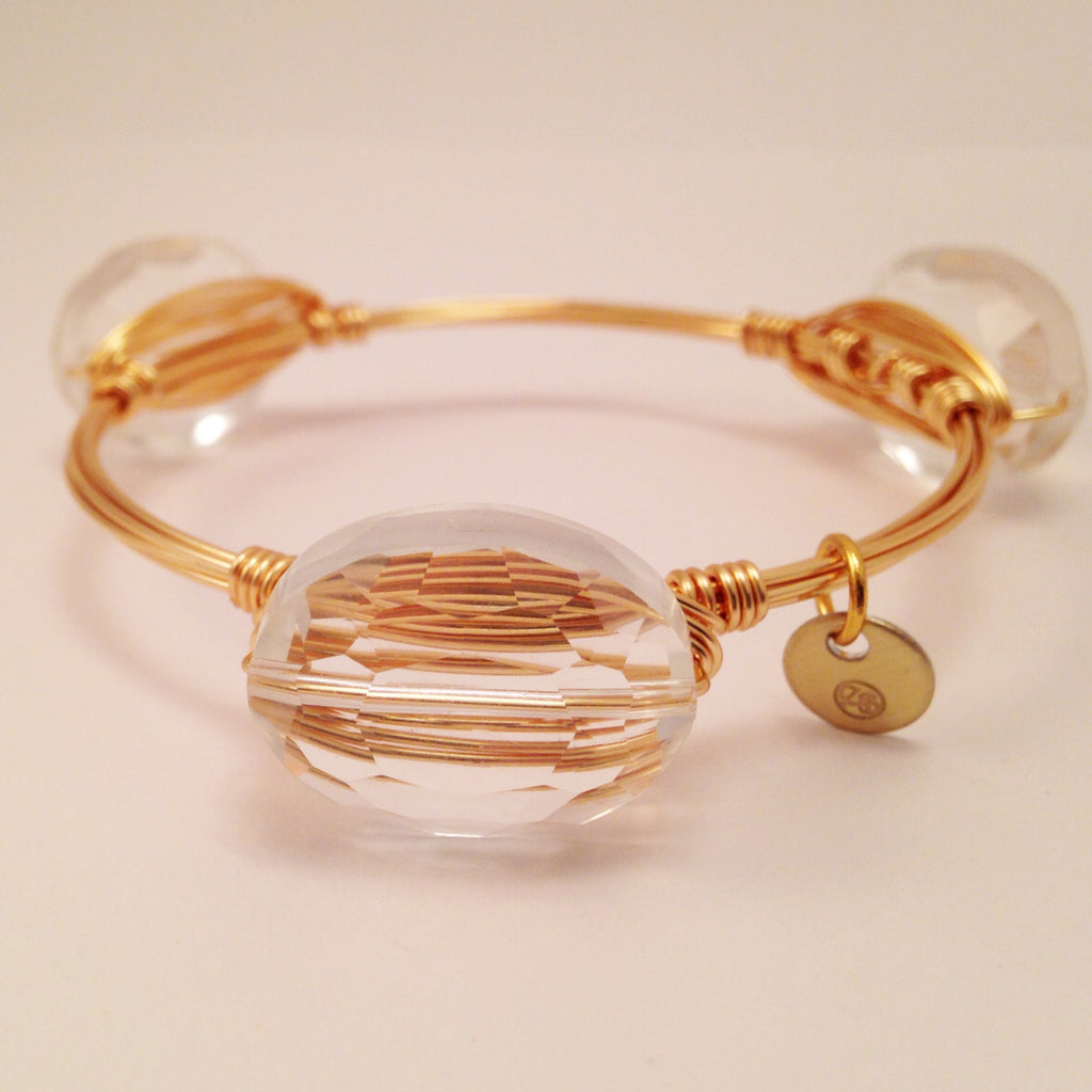 Clear Crystal Oval Bangle