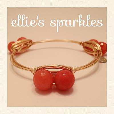 Double Coral/Orange Bangle