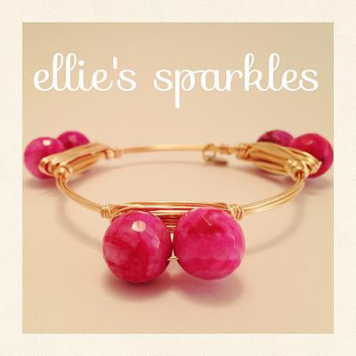 Double Pink Agate Bangle