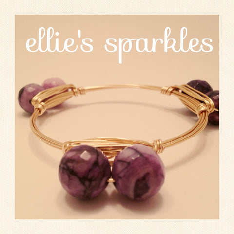 Double Purple Swirl Bangle
