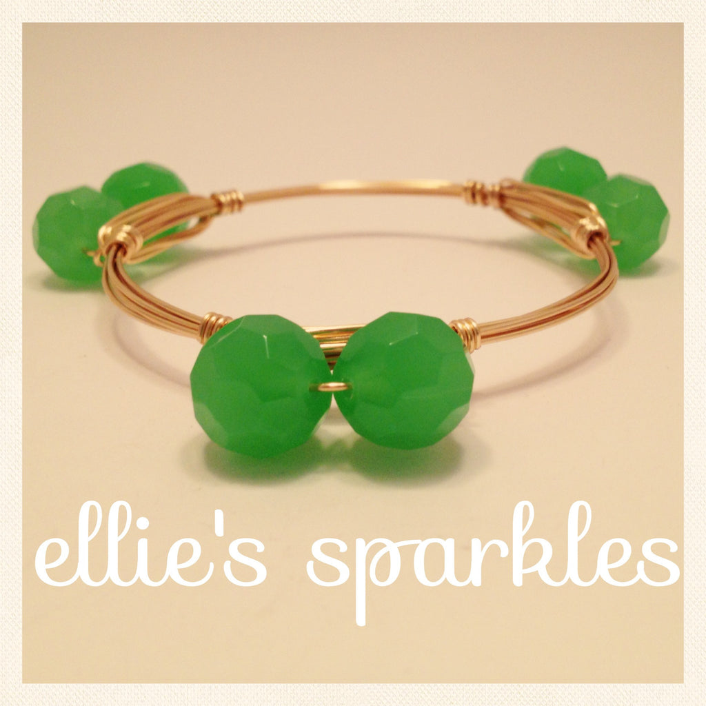 Double Sea Foam Green Bangle