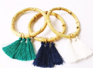 **Bamboo Tassel Bangle