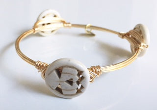 Cream Halloween Pumpkin Bangle